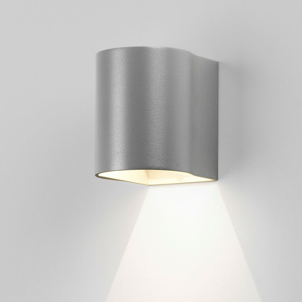 Astro Lighting 8059 Dunbar 100 LED Up Down Exterior Wall Light Silver