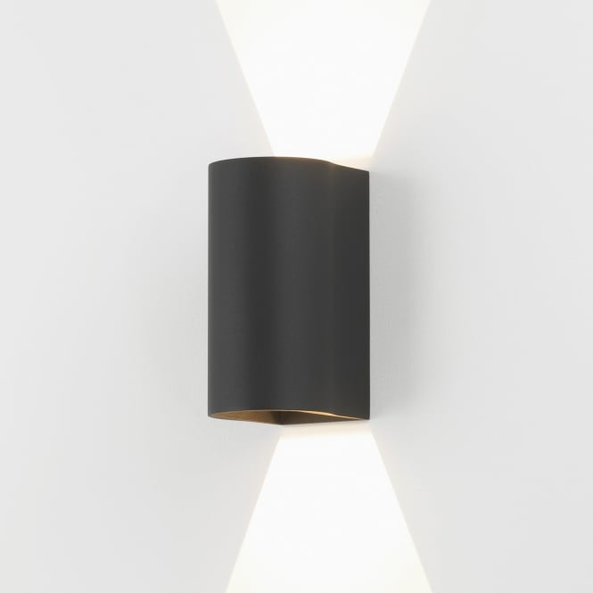 astro lighting 7946 dunbar 160 led up down exterior wall light black. Black Bedroom Furniture Sets. Home Design Ideas