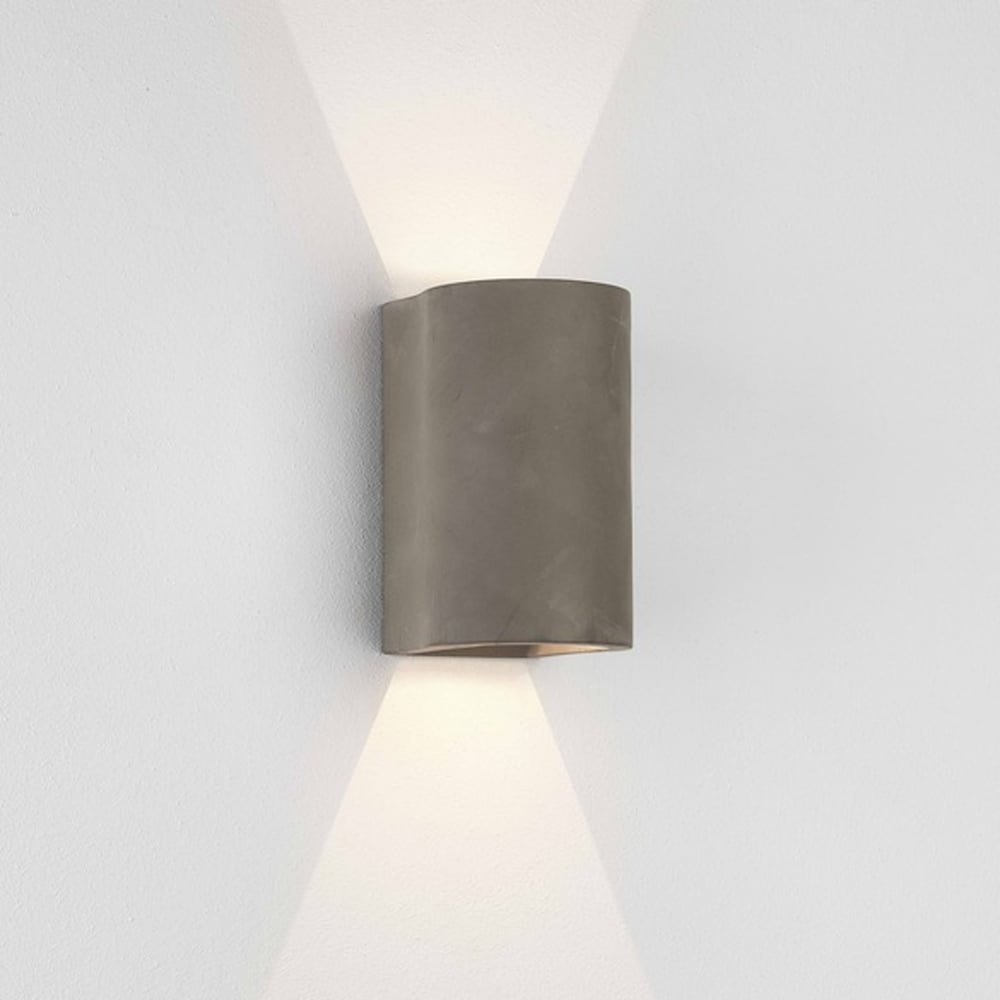astro lighting 8187 dunbar 160 led up down wall light concrete. Black Bedroom Furniture Sets. Home Design Ideas