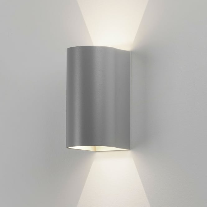 Astro Dunbar 160 LED Up and Down Exterior Wall Light in Silver