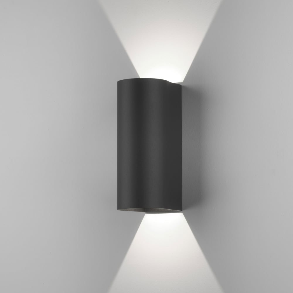 astro lighting 7992 dunbar 225 led up down exterior wall light black. Black Bedroom Furniture Sets. Home Design Ideas