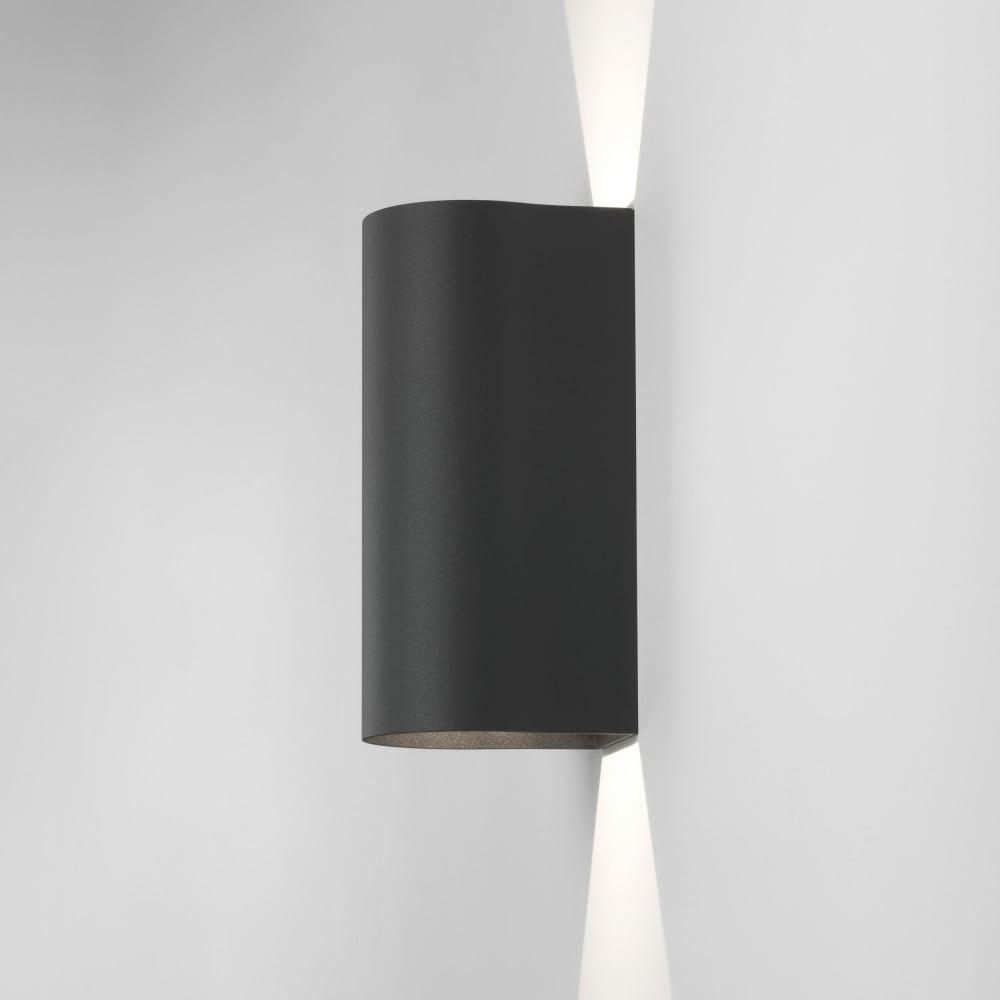 astro lighting 7992 dunbar 225 led up down exterior wall light black