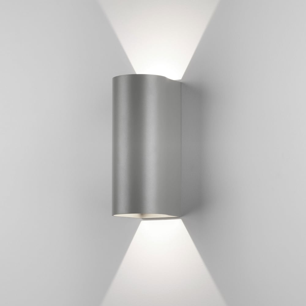 Dunbar 255 LED Up And Down Exterior Wall Light In Silver