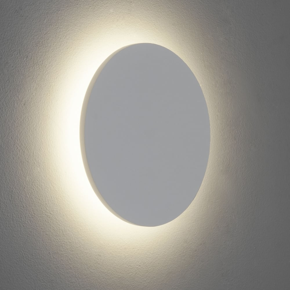 eclipse round 250 led plaster wall light