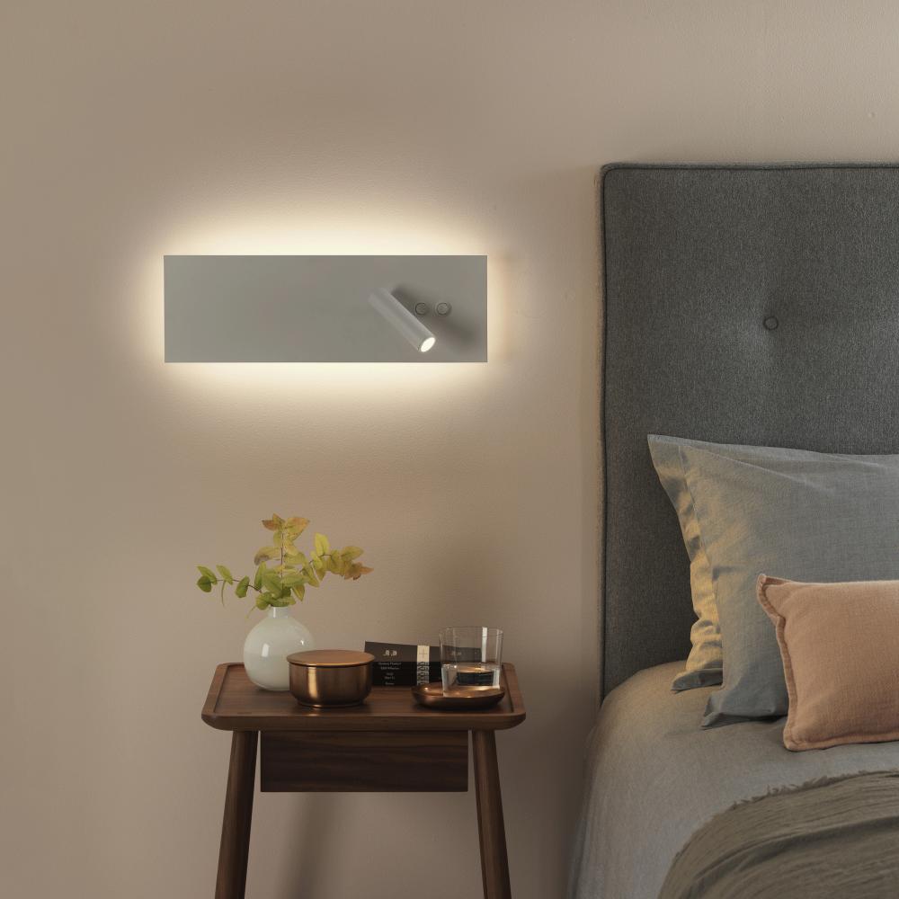 Twin Reading Wall Lights : Astro Lighting 7855 Edge Reader LED Dual Wall Light