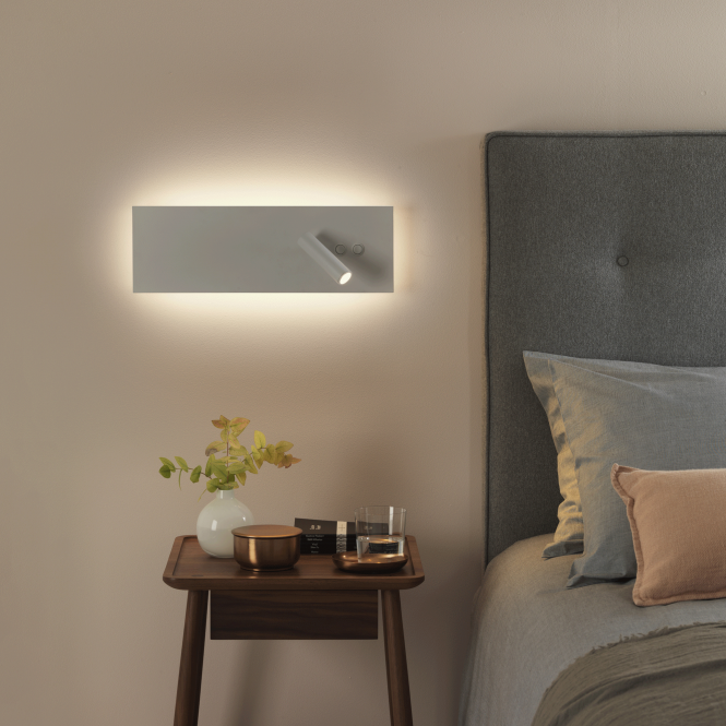 Astro Edge Reader LED Wall Light - Double Switch