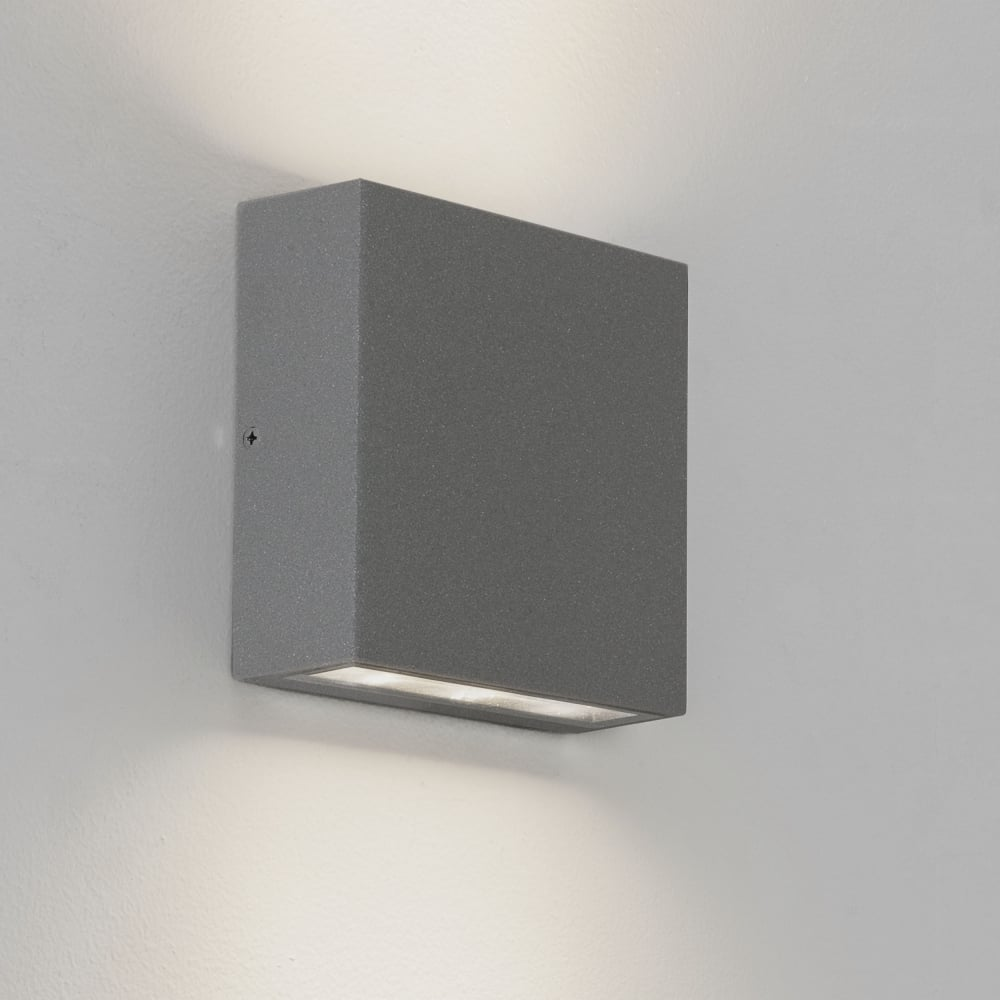 Double Wall Light External : Astro Lighting 7204 Elis LED Double IP54 Exterior Wall Light in Silver