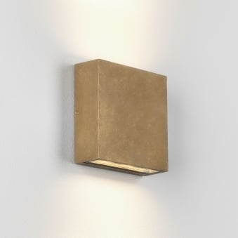 Elis Twin LED Coastal Exterior Brass Wall Light