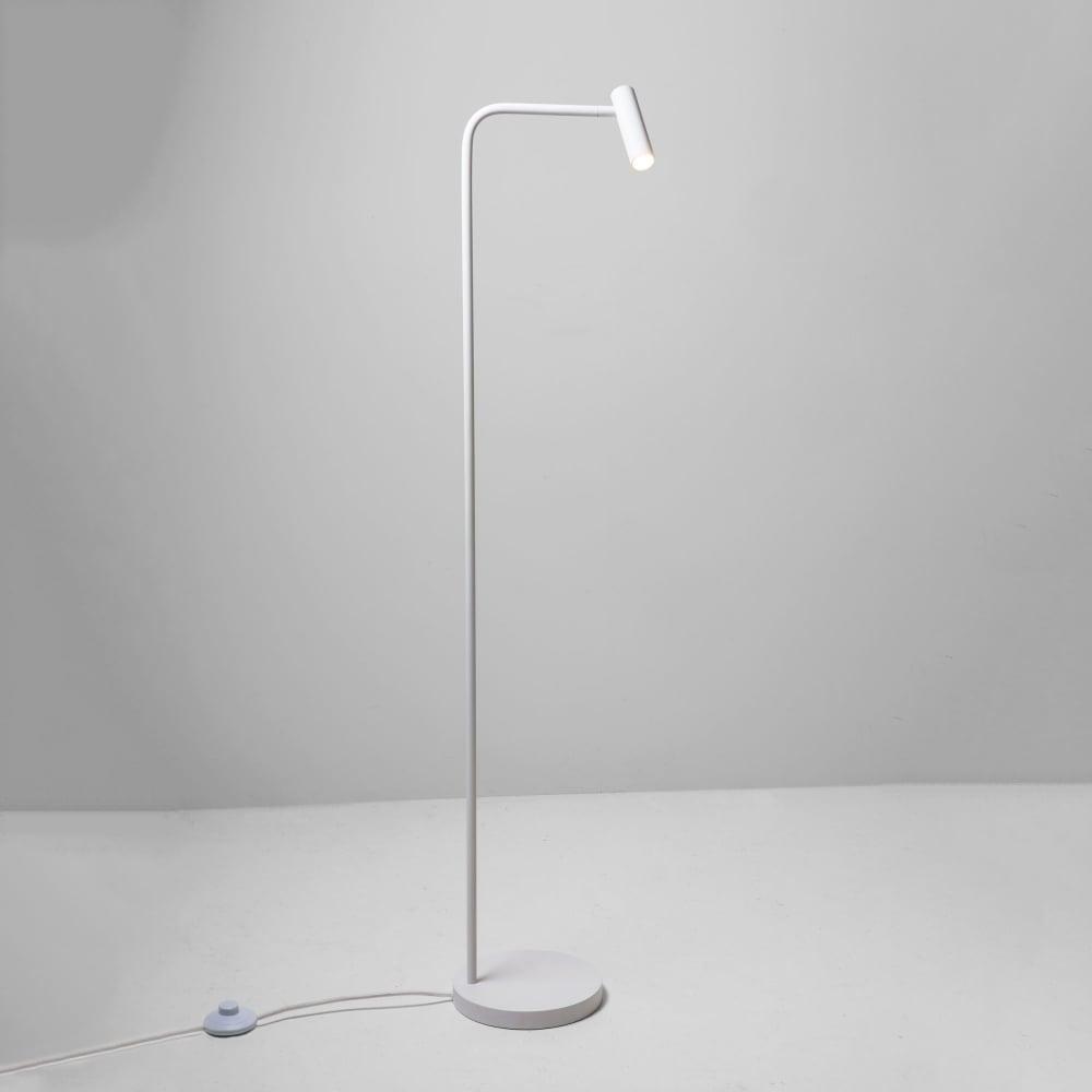 enna led floor lamp in white