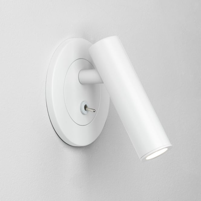Astro Enna Recess Round Switched Reading Light in White