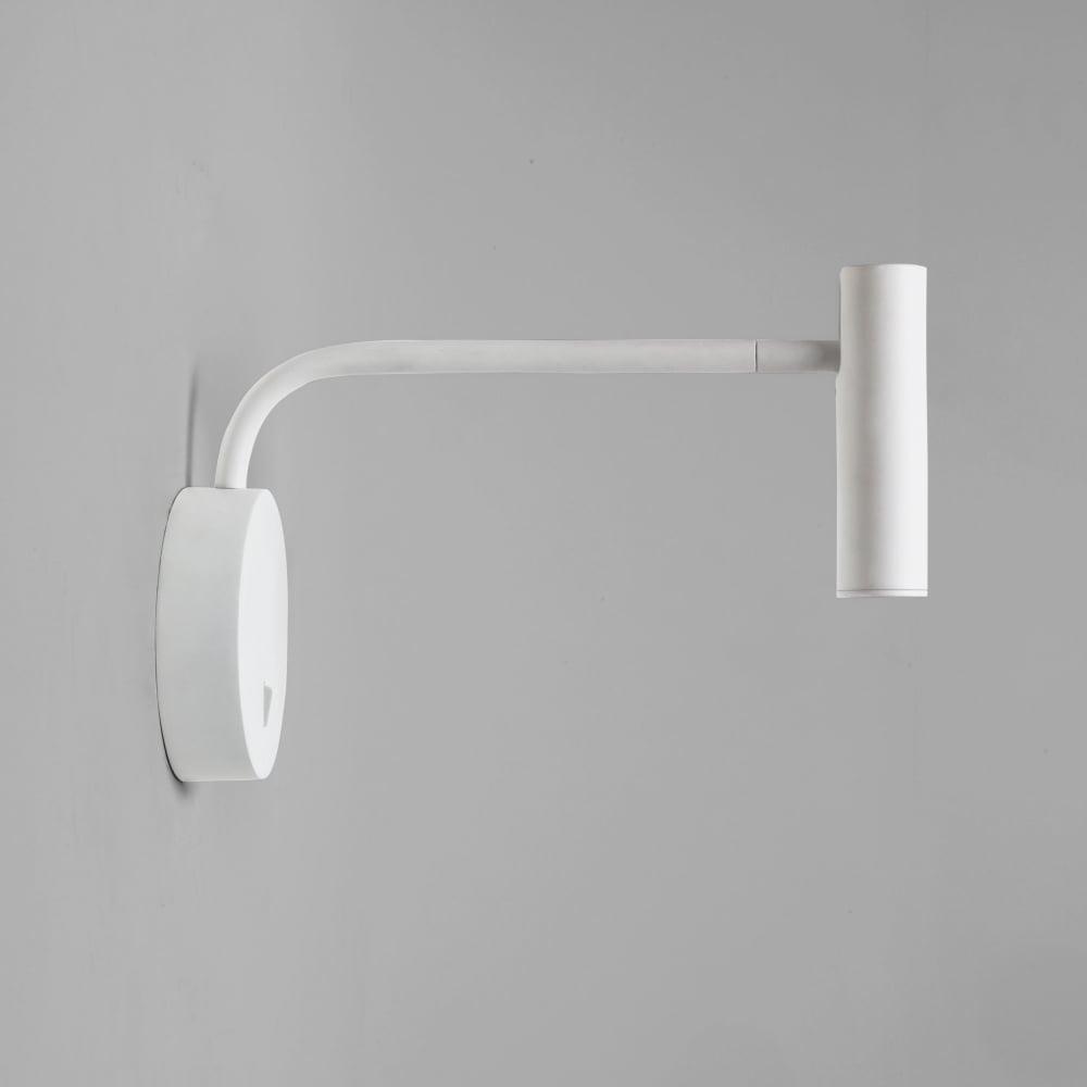 Enna Wall LED White Reading Wall Light. Astro Lighting 7588 Enna Wall LED White Reading Wall Light