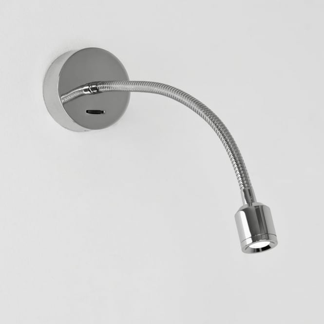 Astro Fosso Switched LED Reading Wall Light in Chrome
