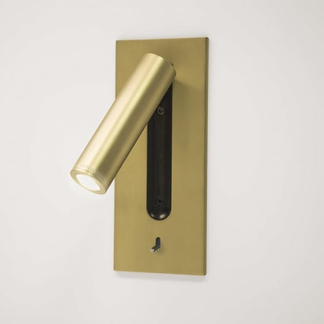 Astro Fuse Switched LED Reading Light in Matt Gold
