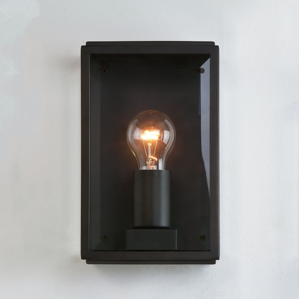 Outdoor Wall Lights Uk: Astro Lighting 0483 Homefield Exterior Black Wall Light
