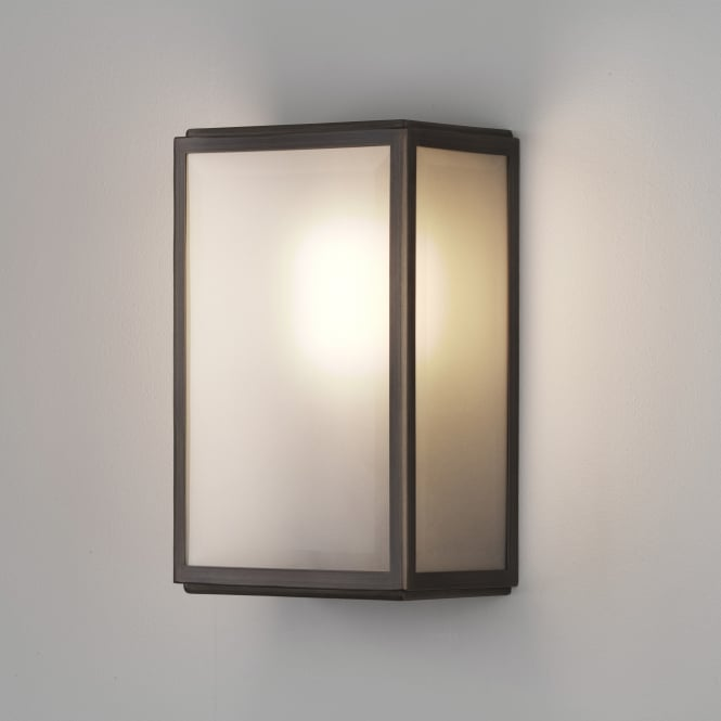 Astro Homefield Exterior IP44 Bronze Frosted Wall Light