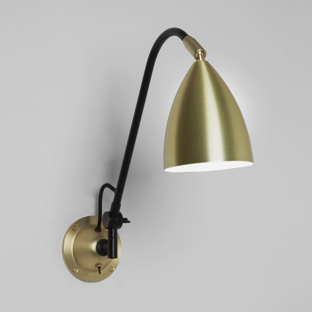 Astro lighting 7615 joel grande switched wall light in matt gold joel grande switched wall light in matt gold aloadofball Gallery