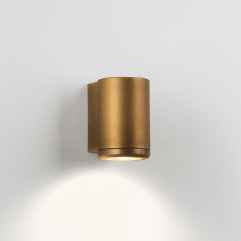Jura Single Coastal Exterior Brass Wall Light