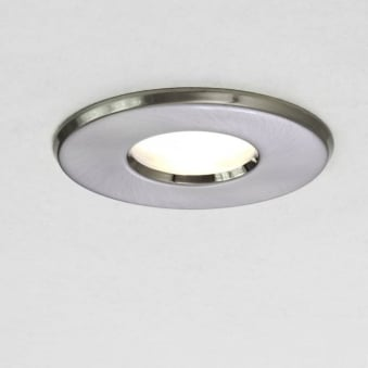 Kamo 230v IP65 Bathroom Downlight in Brushed Nickel