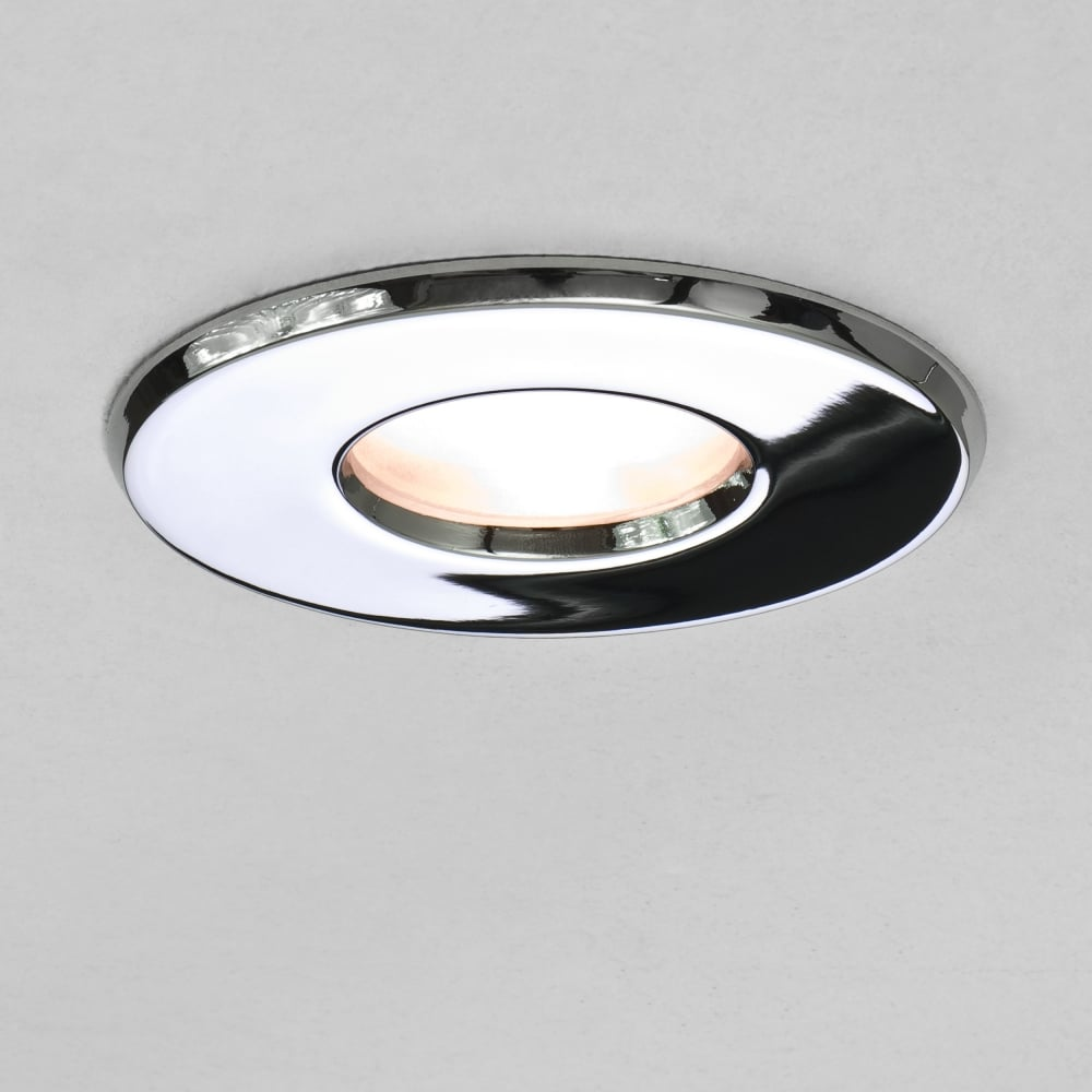 Bathroom Light Fittings astro lighting 5659 kamo 230v ip65 bathroom downlight in chrome
