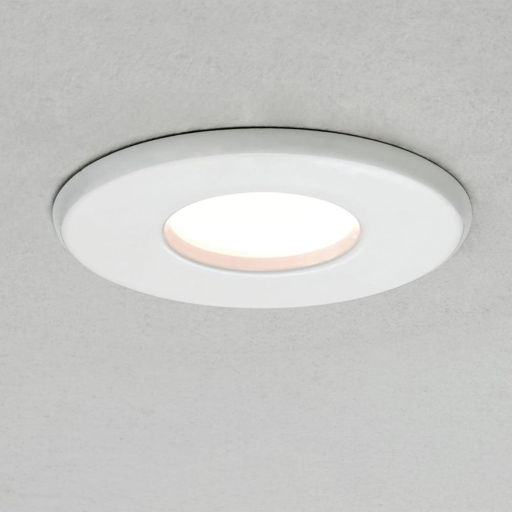 Bathroom lighting bathroom light fittings dusk lighting kamo 230v ip65 ceiling bathroom downlight in white aloadofball Images