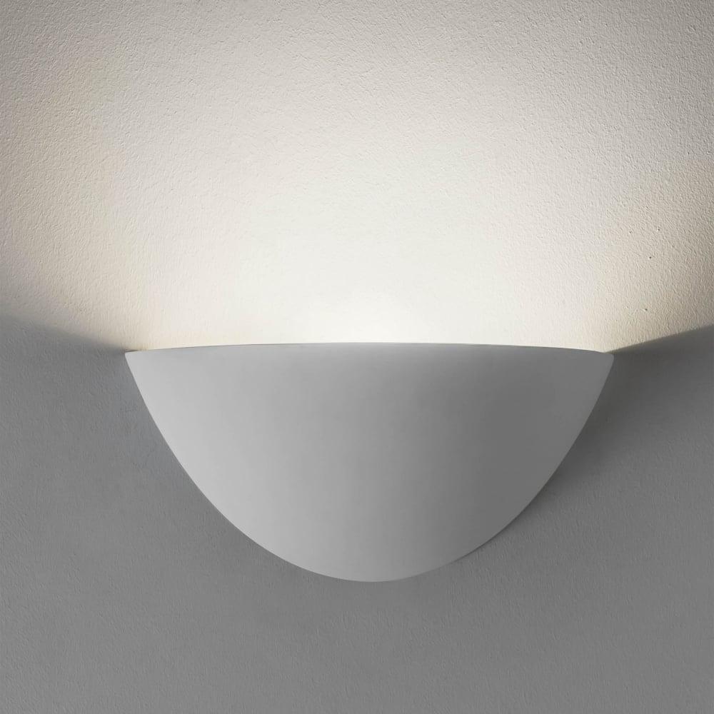 Wall Lights Plaster Finish : Astro Lighting 7376 Kastoria Wall Light in a White Plaster Finish