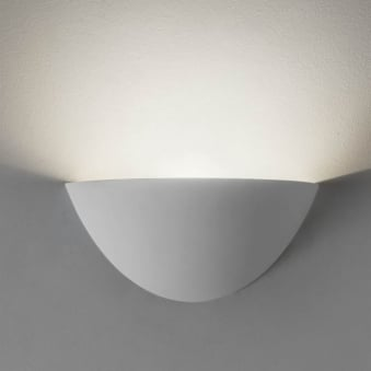 Kastoria Wall Light in a White Plaster Finish