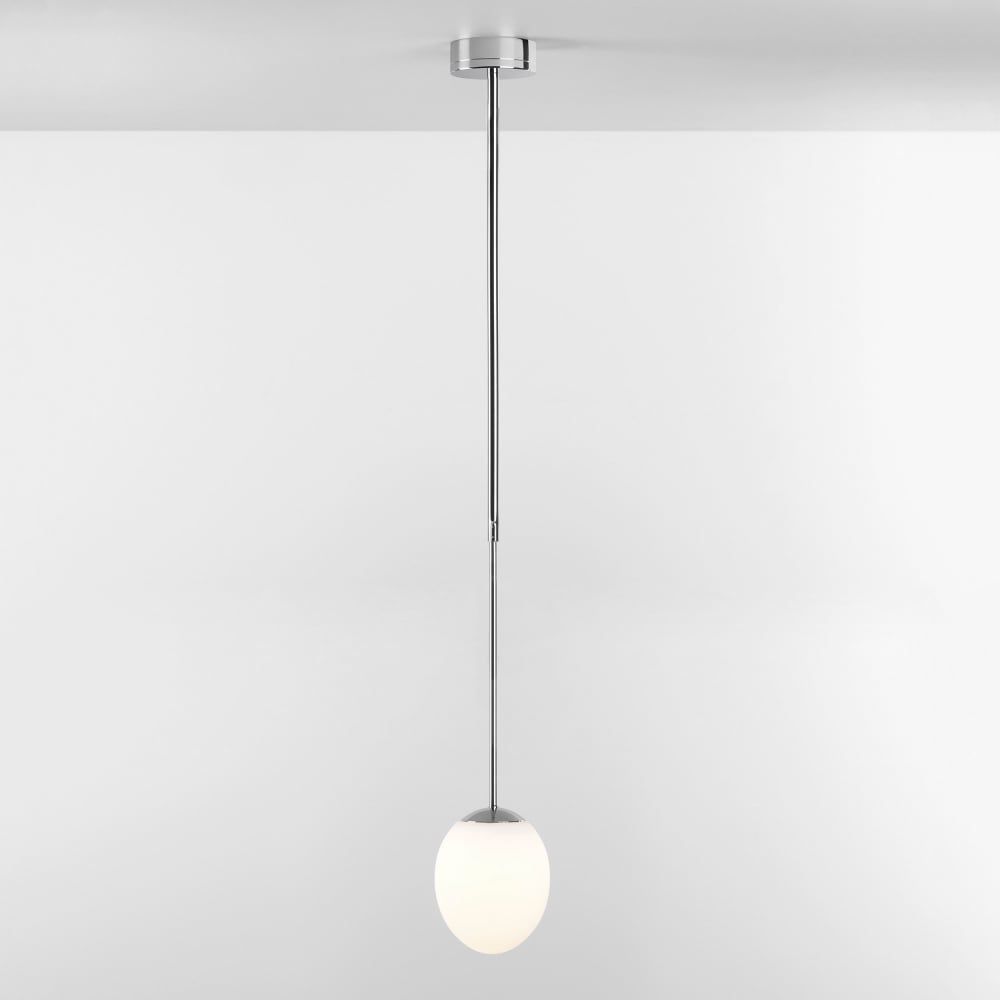 Kiwi ip44 led bathroom pendant light in chrome