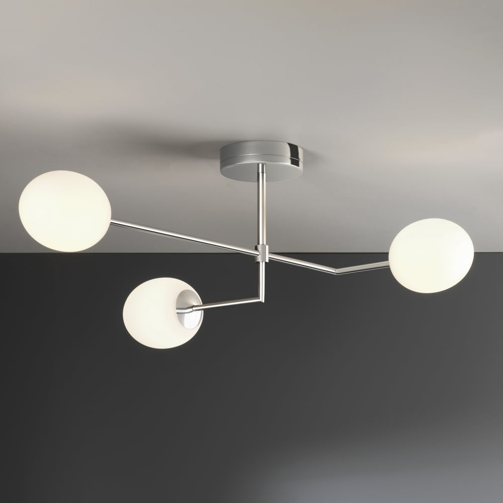 Astro 8051 kiwi three bathroom ceiling light in chrome kiwi three ip44 led bathroom ceiling light in chrome mozeypictures Images