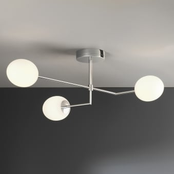 Kiwi Three IP44 LED Bathroom Ceiling Light in Chrome