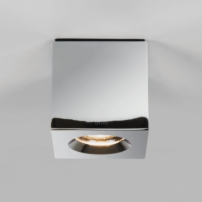 Astro Kos Square IP65 Surface Mounted Downlight in Polished Chrome
