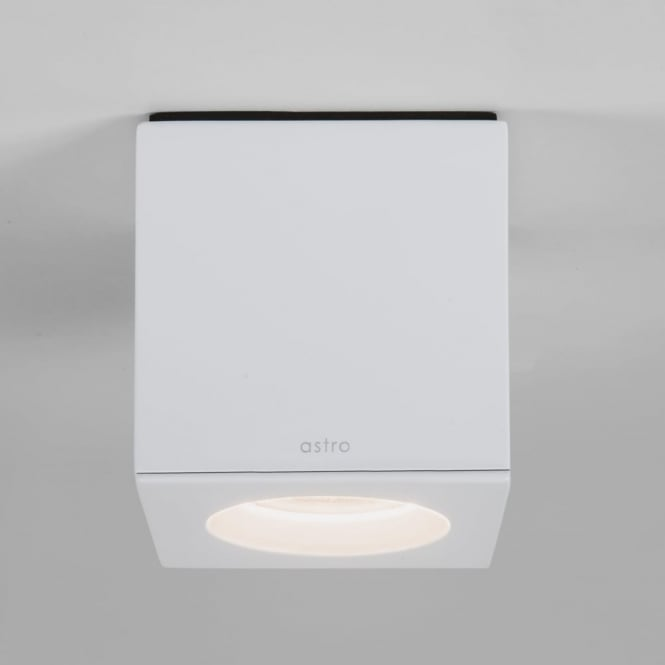 Astro Kos Square Surface Mounted Downlight IP65 in White
