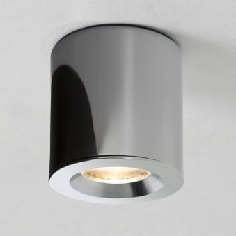KOS Surface Mounted Downlight IP65 in Polished Chrome