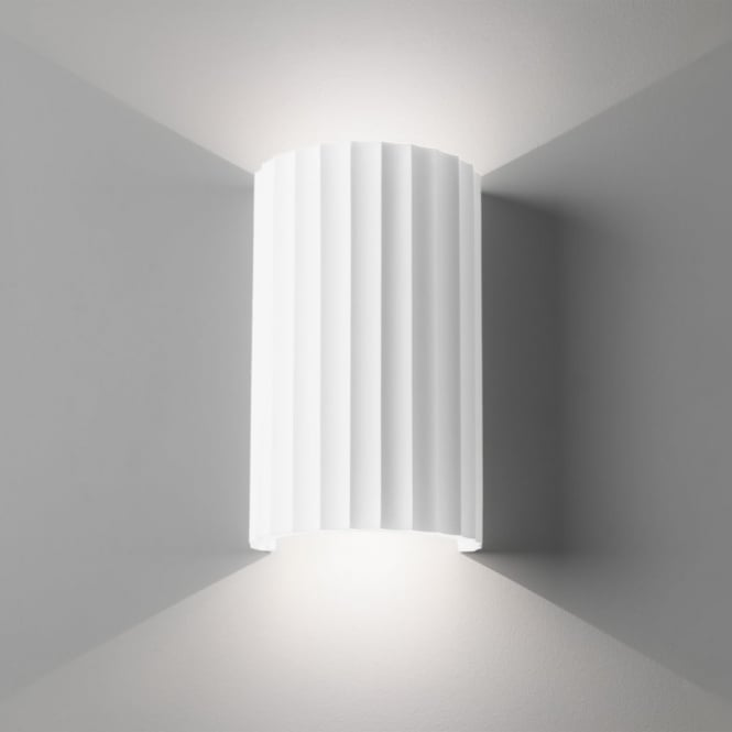 Astro Kymi 220 Wall Light Finished in White Plaster