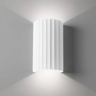 Kymi 220 Wall Light Finished in White Plaster