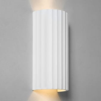 Kymi 300 Wall Light Finished in White Plaster