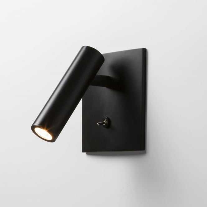 Astro LED Enna Square Switched Reading Light in Black