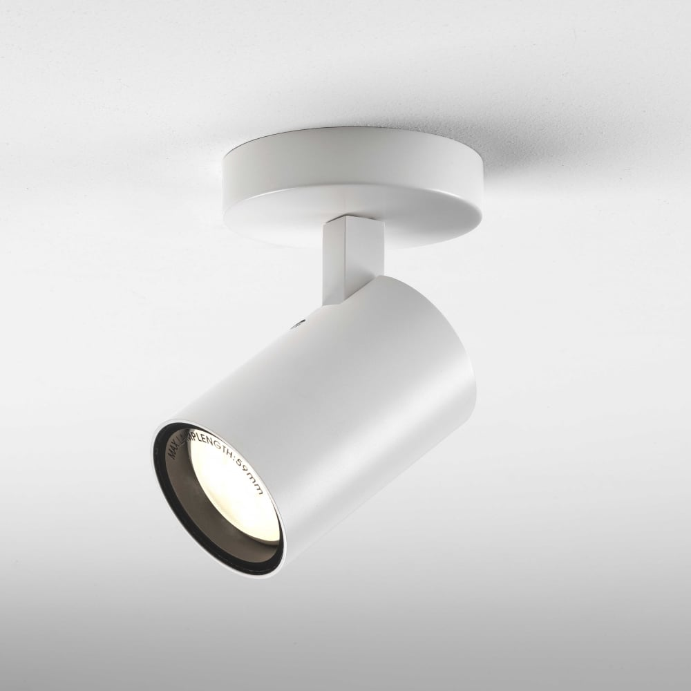 astro lighting 6152 aqua single gu10 adjustable spotlight in white