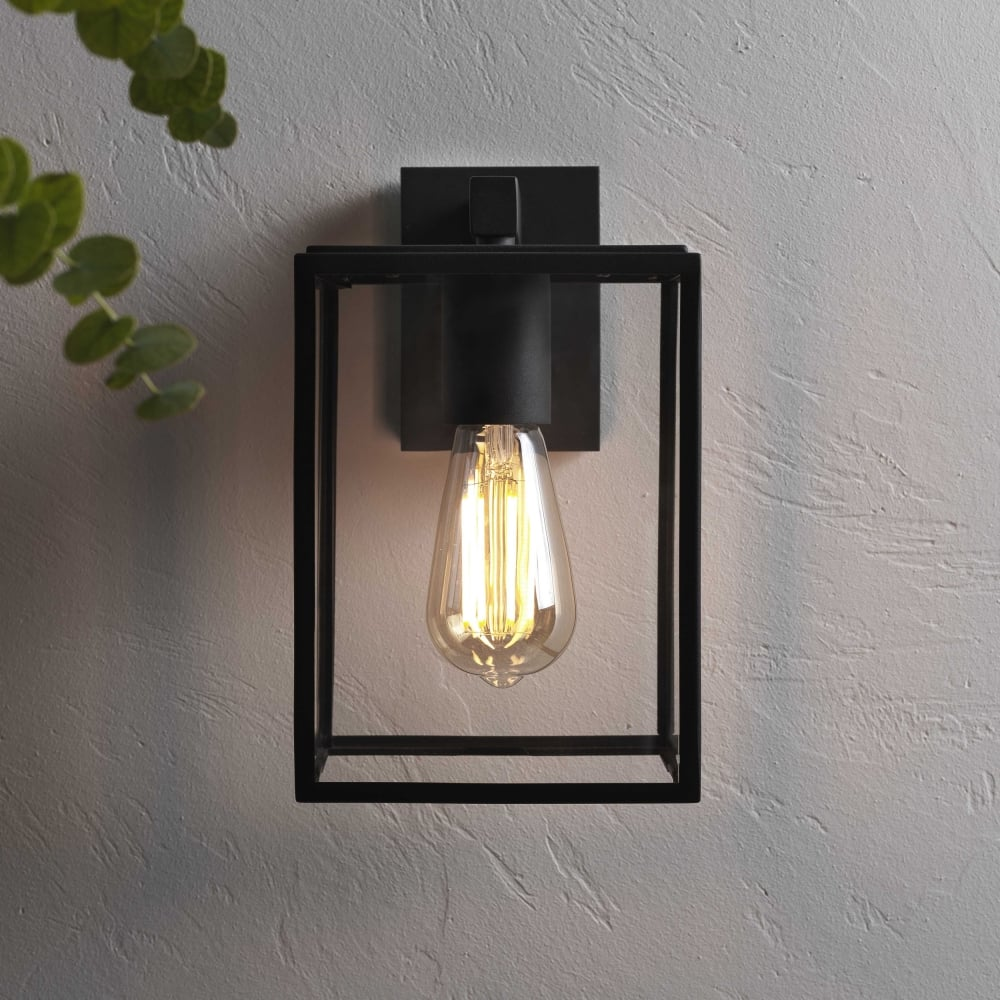 Porch Light Box: Astro Lighting 7389 Box Black Exterior Wall Light 1354003