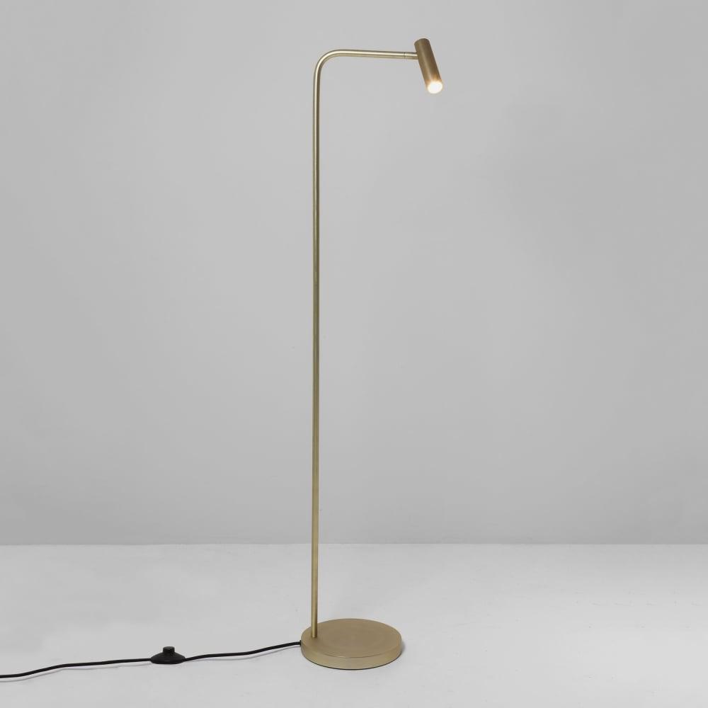 Enna led floor lamp in matt gold