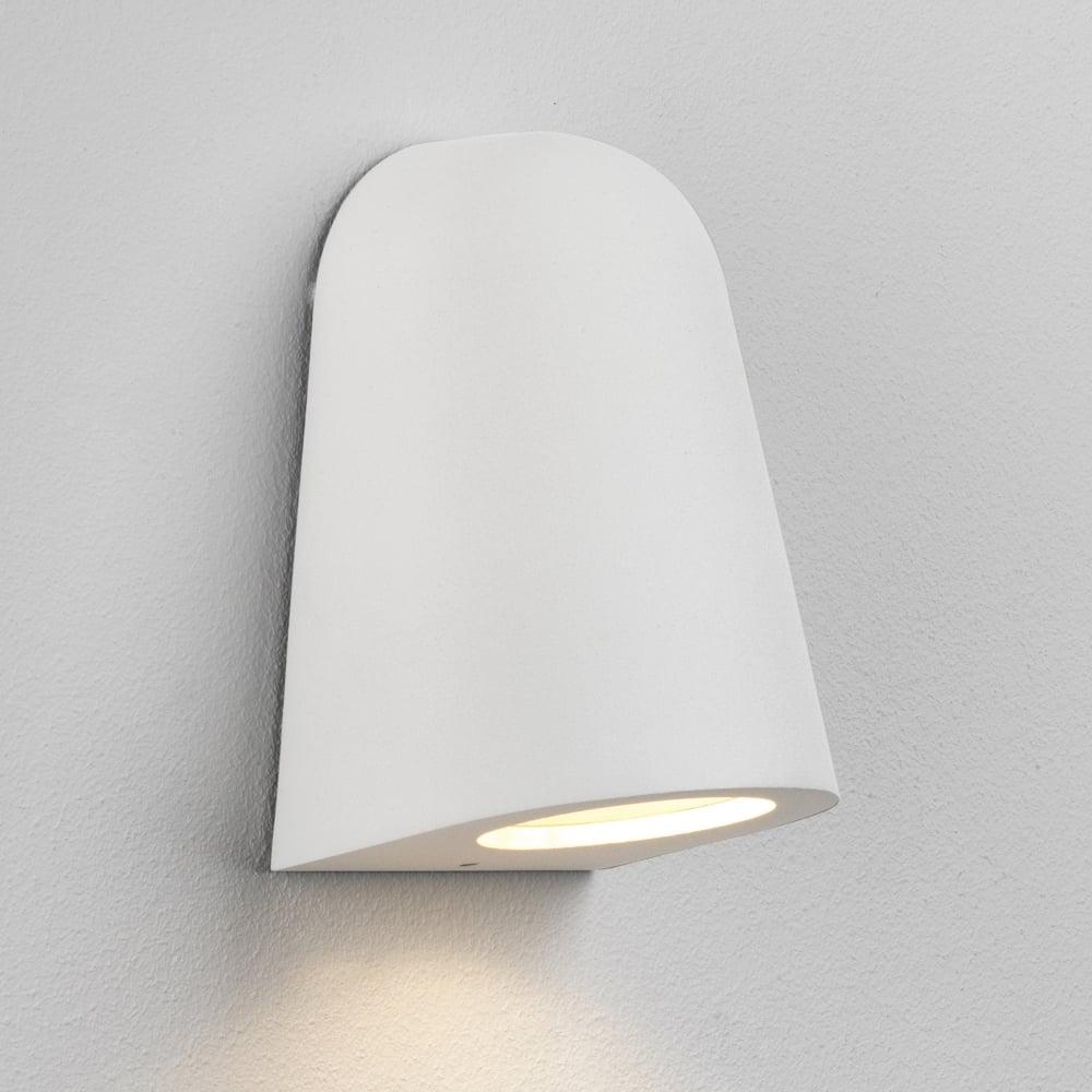 Mast IP65 White Exterior Wall Light