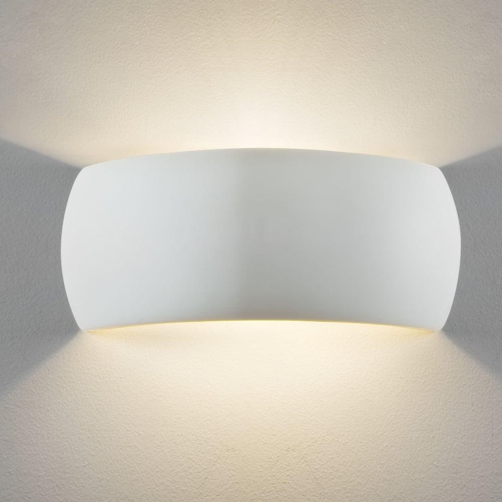 866dd0670a82 Astro Lighting 7073 Milo Ceramic Wall Light in White