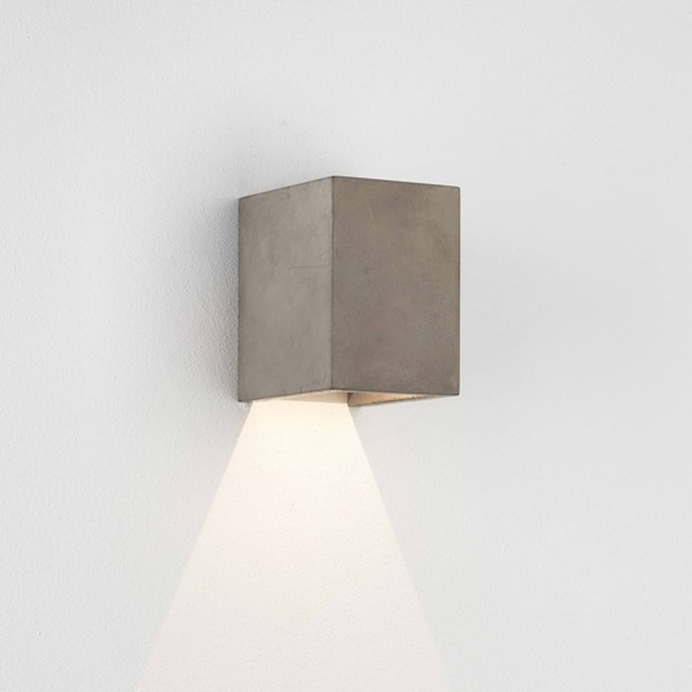 Oslo 120 LED IP65 Exterior Wall Light in Concrete