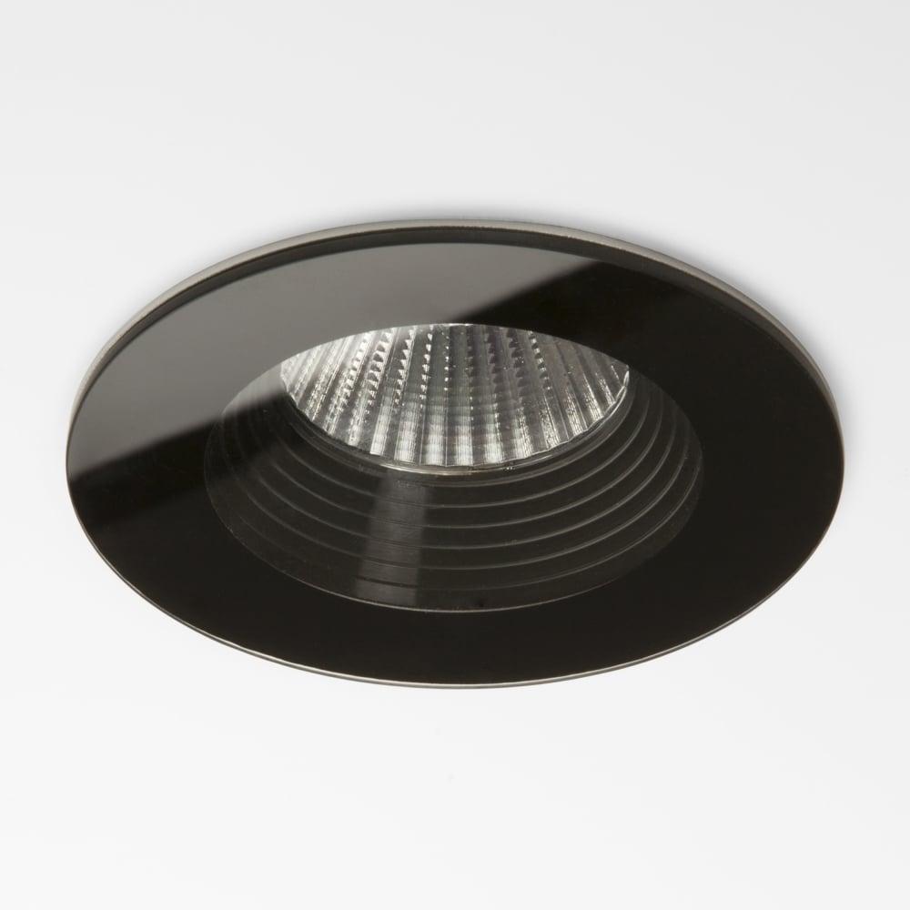 best sneakers 973ce 86a6e Vetro LED IP65 Round Black Bathroom Downlight