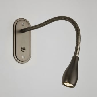Lindos LED Switched Reading Light in Bronze