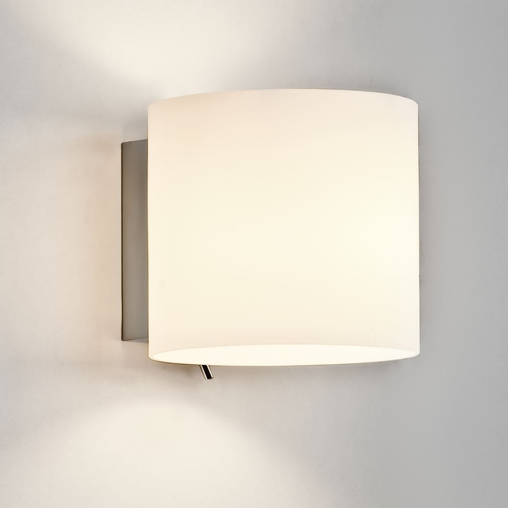Astro lighting 0411 luga switched oval white glass wall light luga switched oval white glass wall light aloadofball Image collections