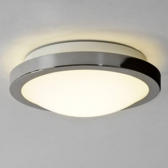 Mariner Bathroom Ceiling Light with Polished Chrome Finish White Opal Glass Diffuser