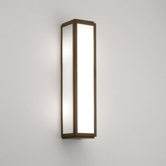 Mashiko 360 IP44 Classic Bathroom Wall Light in Bronze