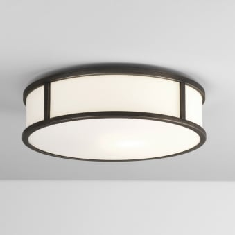 Mashiko Round 300 IP44 Ceiling Light in Bronze