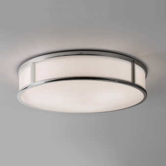Mashiko Round 400 IP44 Ceiling Light in Chrome