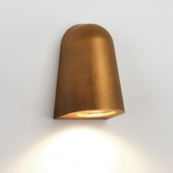Mast Coastal Exterior Brass Wall Light
